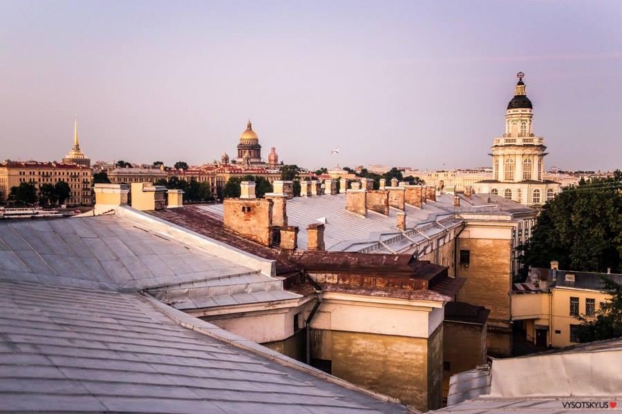 на крыше красивые фото